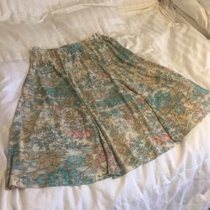 Vintage handmade Pastel Floral Skirt